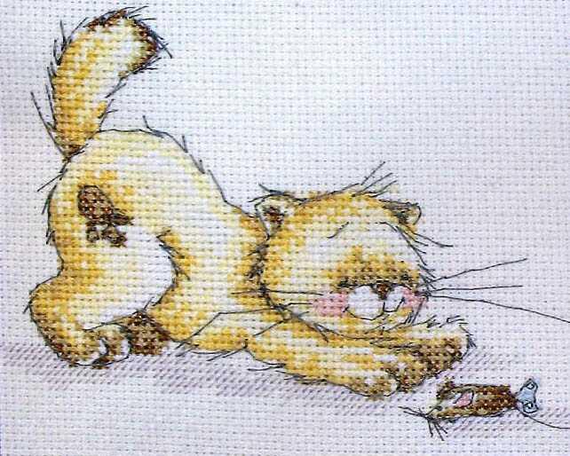 картинки котов для вышивания