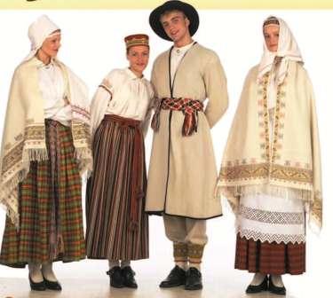 Латышскія ўборы