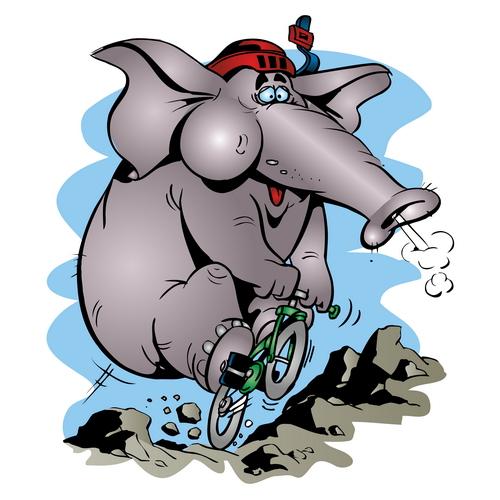 Едзе слон…