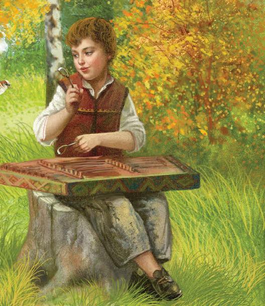 Юнак музыка грае на цымбалах