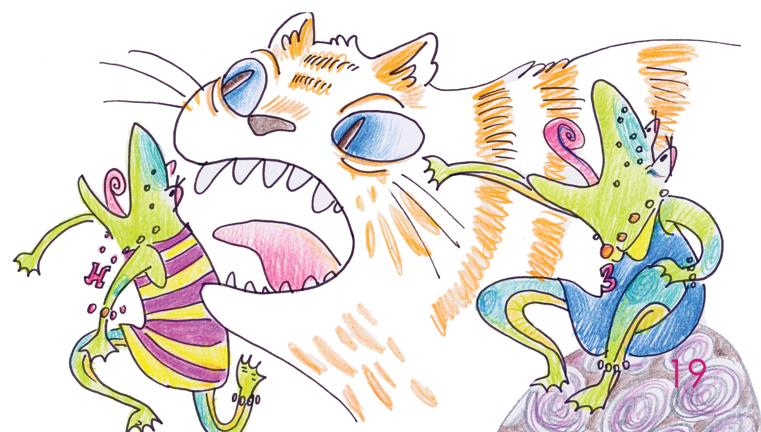 Кот Кузя і дзве жабкі