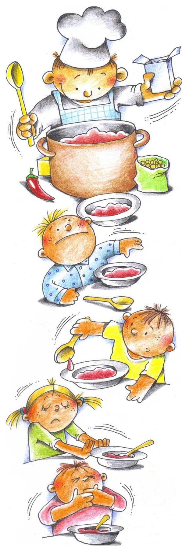 Дзеці суп варылі