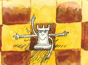 Шахматная школка «Вясёлкі»: Урок трэці. Вучымся хадзіць ладдзёй.