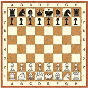 """Шахматная школка """"Вясёлкі"""": Урок другі. Як расставіць фігуры?"""